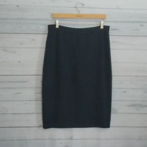 St. John Basics knit wool pencil skirt size 14